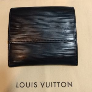 Louis Vuitton Epi Elise Black Wallet
